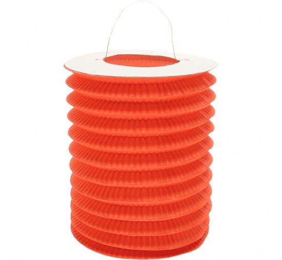 GoDan Lampion dekoracyjny walec - pomarańczowy / 15 cm