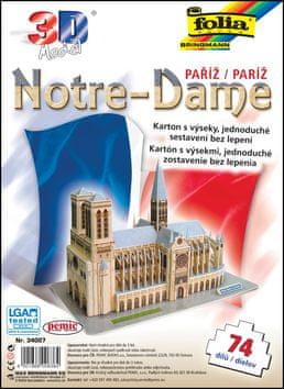 3D model Notre-Dame Paříž - 74 dílů
