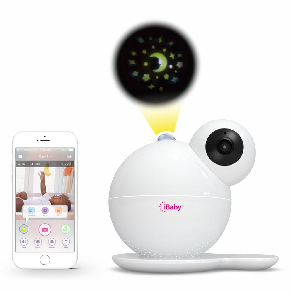 iBaby Care M7 video chůvička, senzor kvality vzduchu, noční světlo