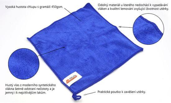 M-Style  mikrovláknová čisticí utěrka 5ks GMS450 25*25cmms