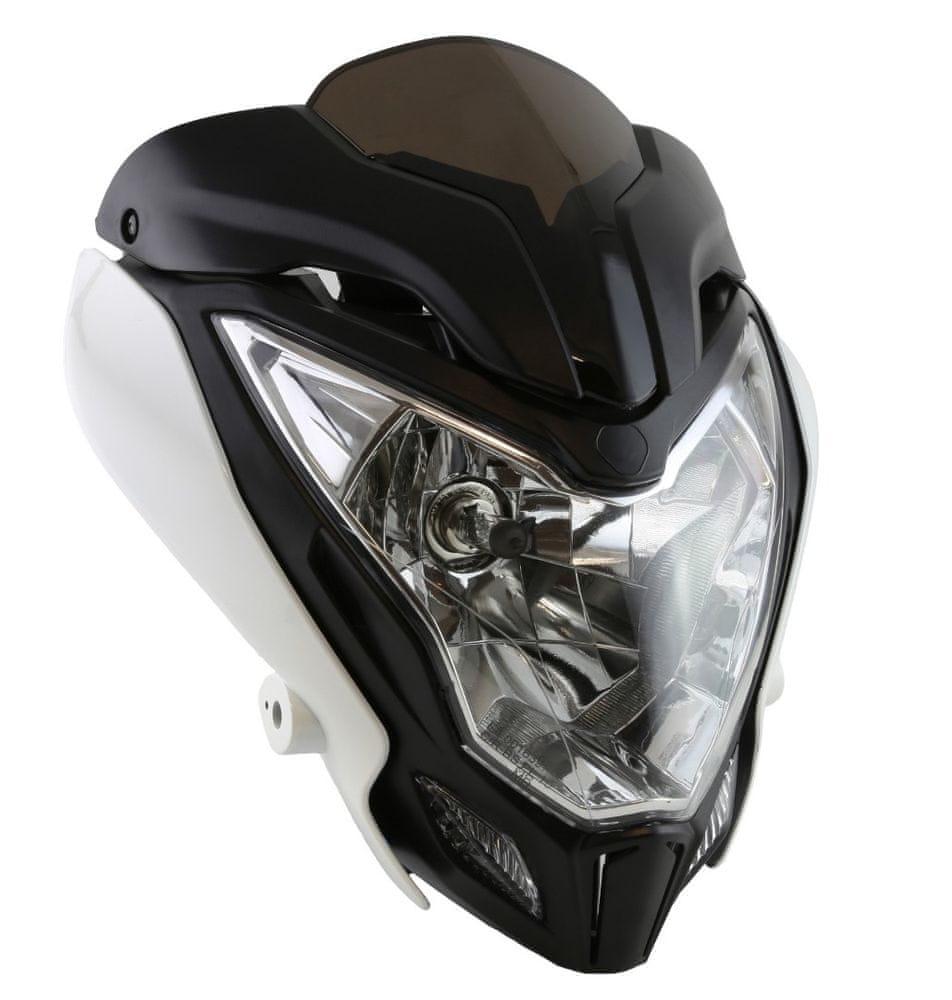M-Style Přední světlo Raptor na motocykl bílé