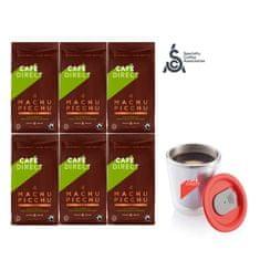 Cafédirect kawa ziarnista 6x BIO Machu Picchu 227 g + kubek nierdzewny 200 ml
