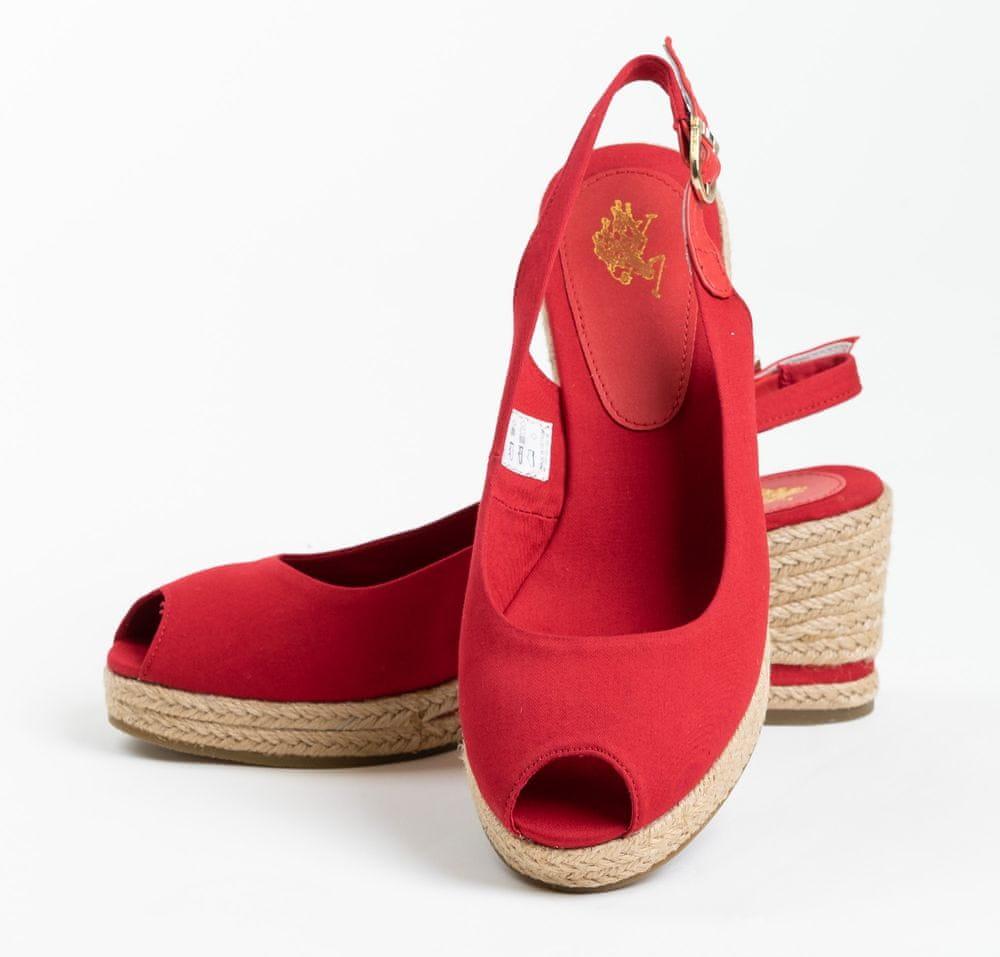 U.S. Polo Assn. dámské sandály VICTORIA ROPE 4089S0/CY3 41 červená