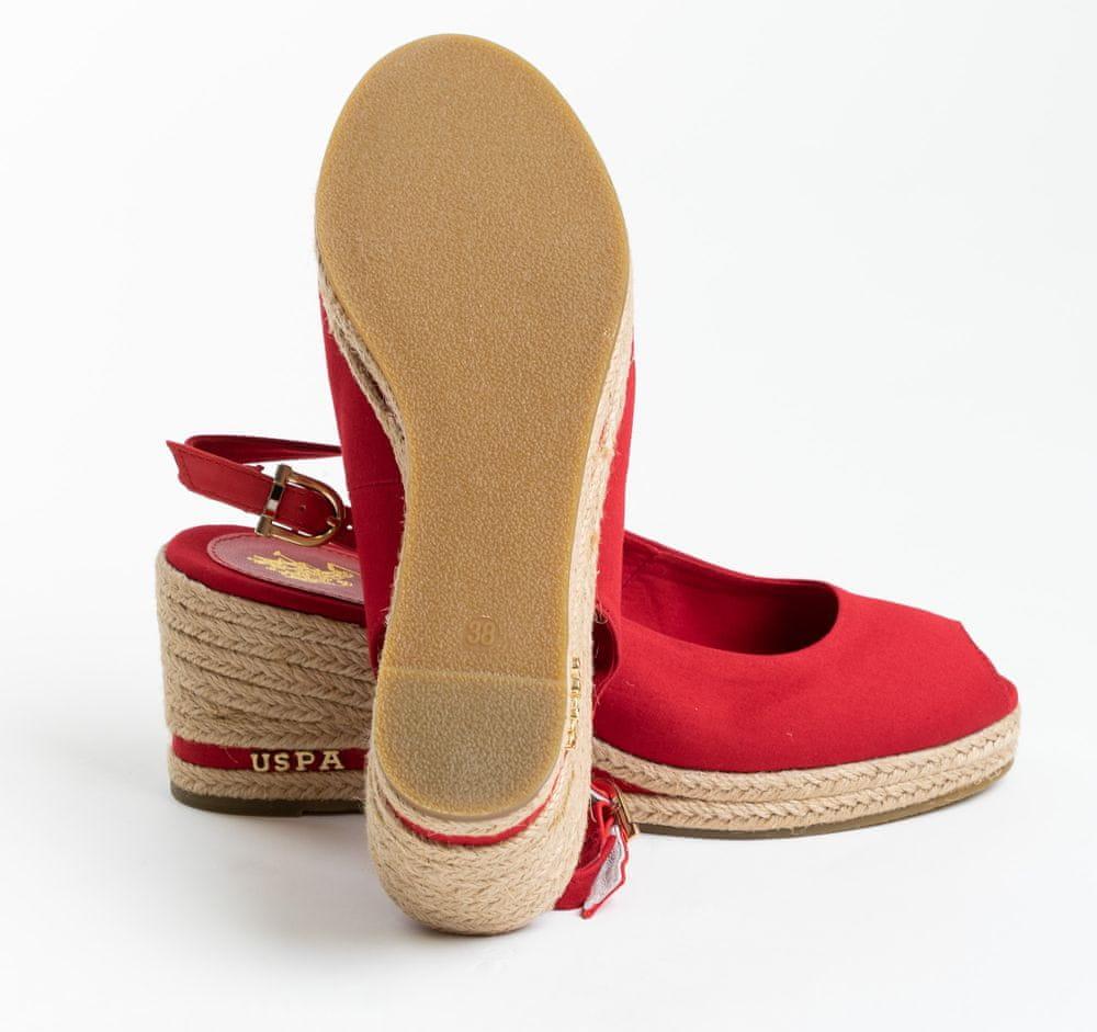 U.S. Polo Assn. dámské sandály VICTORIA ROPE 4089S0/CY3 38 červená