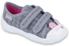 Befado dekliški čeveljčki s smrčkom, sivi, 18