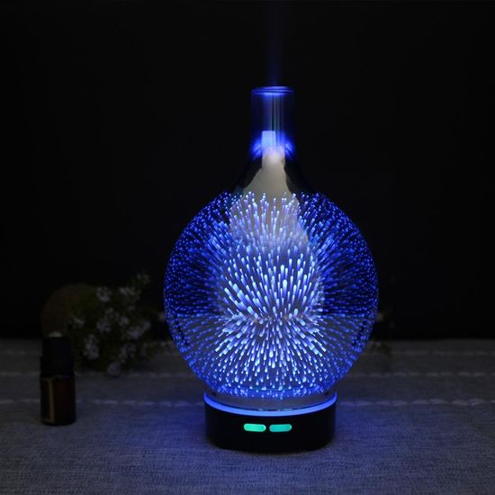 """GOLDSUN Stekleni Oljni Difuzor """"3D LED Light 100ml"""" osvežilec in vlažilec zraka - steklo"""