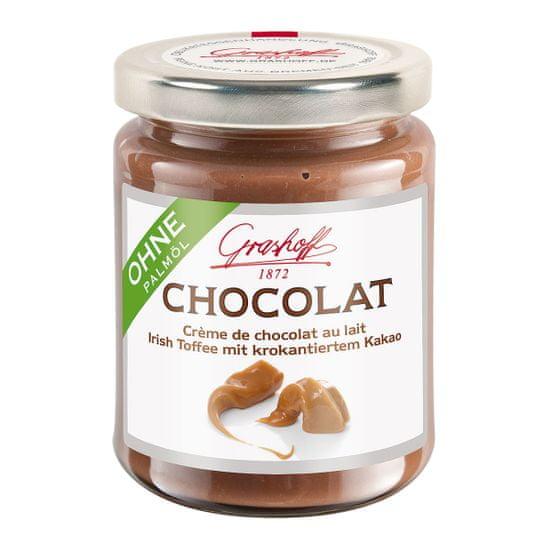 Grashoff Mléčný čokoládový krém s kakaovými křupinkami a vůní karamelu, 250g