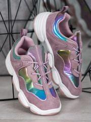 Nőitornacipő 63388 + Nőin zokni Gatta Calzino Strech, lila árnyalat, 36
