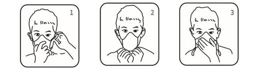 Homed zaščitna maska z elastiko, troslojna, 10 kosov