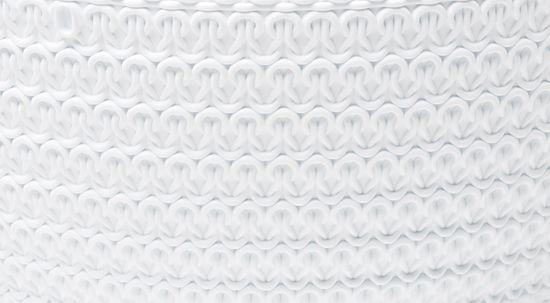 Lamela květináč-žardinka JERSEY Ø 30 cm, bílá