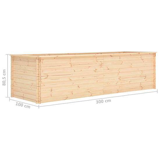 shumee Podwyższona donica, 300x100x80,5 cm, drewno sosnowe, 19 mm