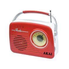 Akai APR-11R RED Retro stílusú rádió, 9204486 | APR-11R RED Retro stílusú rádió