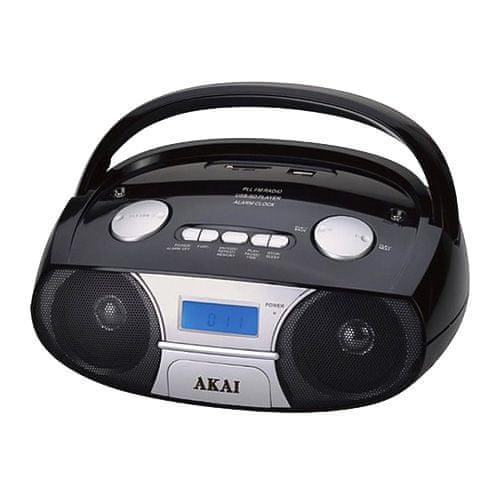 Akai rádió kazettás lejátszó, 9204790   APRC-106, CD-vel és BT-vel