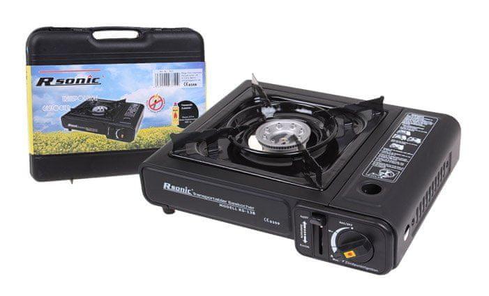 Kempingový plynový vařič RSonic Turbo + 4 kartuše
