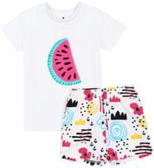 Garnamama pidžama za djevojčice, 140, bijelo/roza
