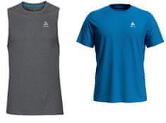 ODLO F-Dry Cardada set, moška majica, 2 kosa, L, siva/modra