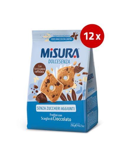 Misura piškoti s koščki čokolade, brez dodanega sladkorja, 12 x 290 g