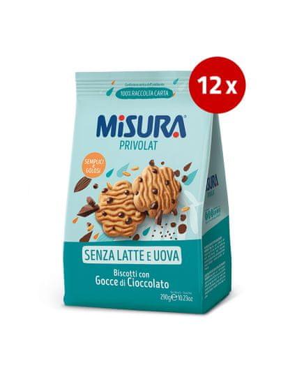 Misura piškoti s koščki čokolade, brez mleka in jajc, 12 x 290 g