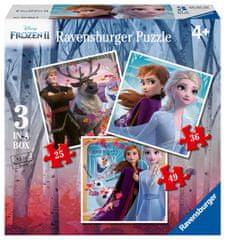 Ravensburger Puzzle 030330 Disney Ledeno kraljestvo 2, 3v1