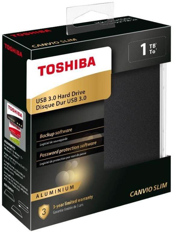 TOSHIBA Canvio Slim 2TB, černá (HDTD320EK3EA)