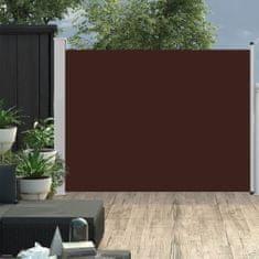 shumee Zložljiva stranska tenda za teraso 170x500 cm rjava