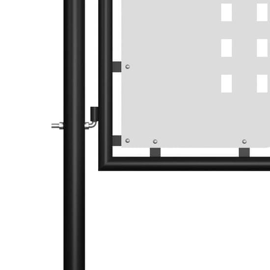 shumee Brama ogrodzeniowa, stalowa, 400 x 75 cm, czarna