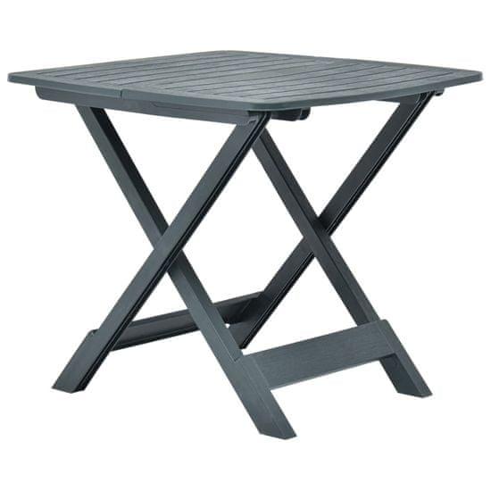 shumee zöld műanyag összecsukható kerti asztal 79 x 72 x 70 cm
