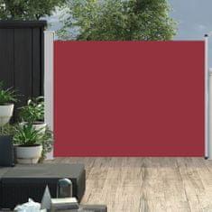 shumee Zložljiva stranska tenda za teraso 170x500 cm rdeča