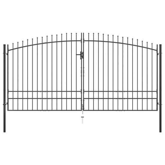 shumee Dvojna vrata za ograjo koničasta 400x248 cm