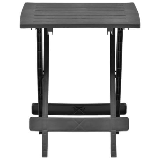 shumee antracitszürke műanyag összecsukható kerti asztal 45x43x50 cm