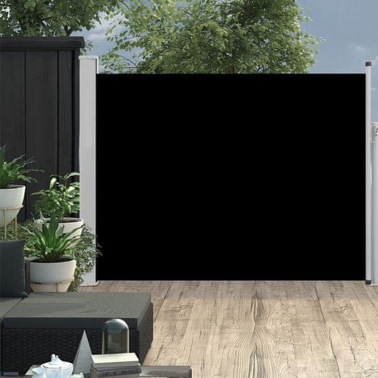 shumee Wysuwana markiza boczna na taras, 140 x 500 cm, czarna