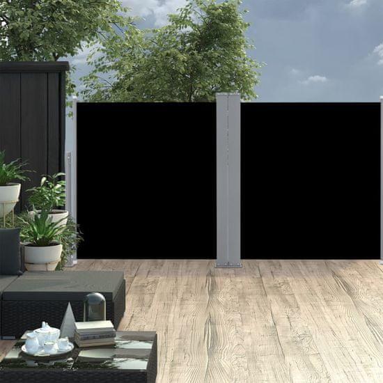 shumee Zwijana markiza boczna, czarna, 120 x 600 cm