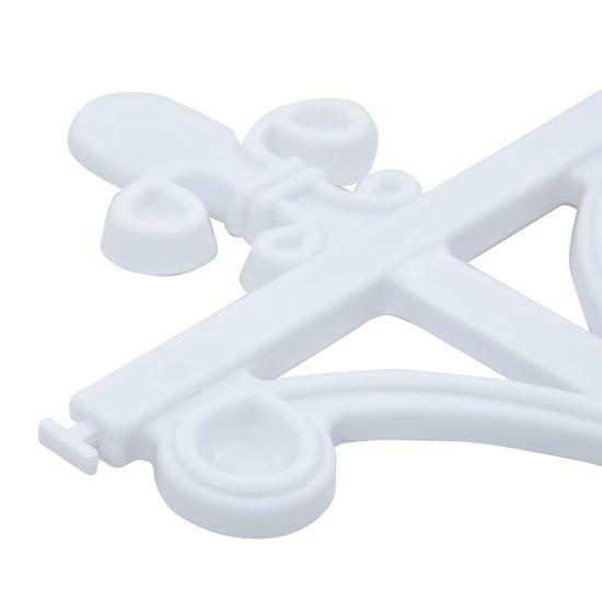 shumee 16 db fehér polipropilén gyepszegély 10 m