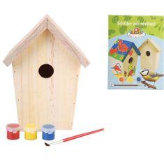 shumee  Esschert Design DIY domek dla ptaszków z farbą 14,8x11,7x20 cm KG145