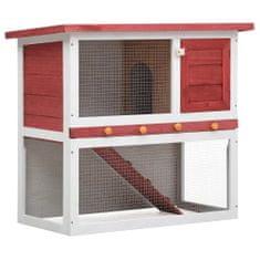 shumee Zunanji zajčnik z 1 vrati rdeč lesen