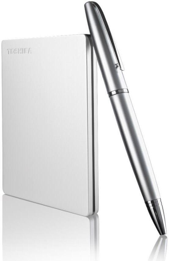 TOSHIBA Canvio Slim 1TB, stříbrná (HDTD310ES3DA)