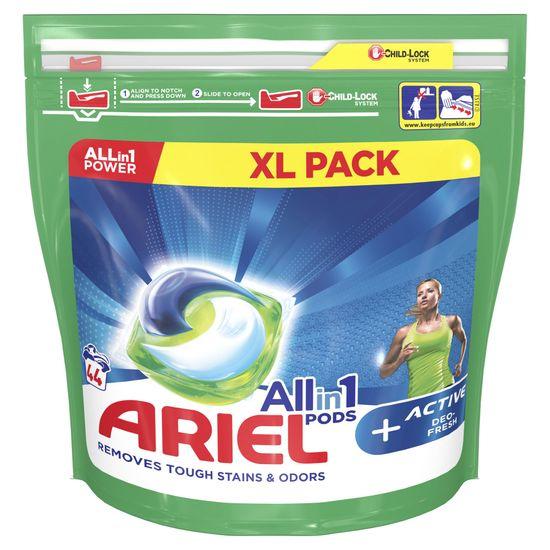 Ariel 3-In-1 Active Sport gel kapsule za pranje perila, 44 kosov