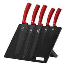 Berlingerhaus Sada nožů s magnetickým stojanem 6 ks Burgundy Metallic Line