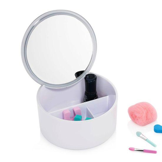 Kela Kozmetična torbica in ogledalo 2v1 TILDA, bela
