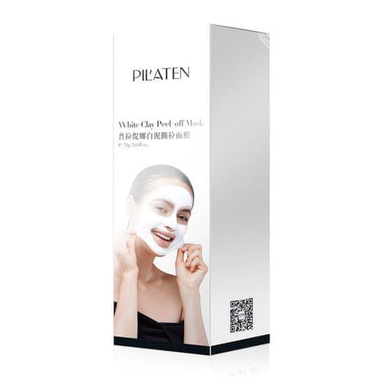 Pilaten White Clay Peel-Off Mask slupovací jílová maska proti černým tečkám 75g
