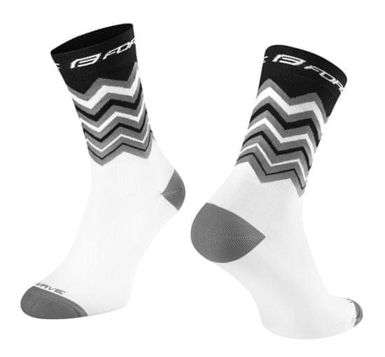 Force Cyklistické ponožky Wave - bílo-černé