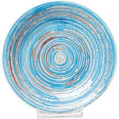 KARE Talíř Swirl Blue O19cm