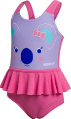 Speedo Frill Swimsuit IF dekliške enodelne kopalke, roza, 104