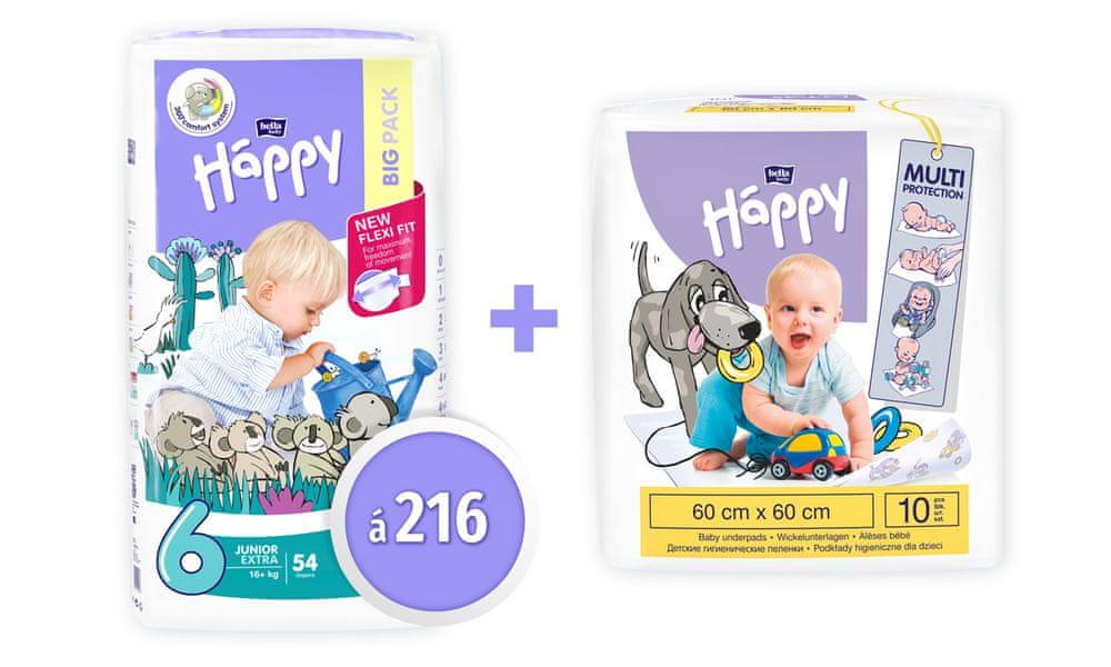 Bella Happy Junior 6 EXTRA Big Pack (16+ kg) 216 ks (4x54 ks)