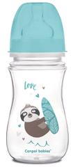 Canpol babies EXOTIC ANIMALS széles nyakú palack, 240 ml, kék