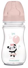 Canpol babies EXOTIC ANIMALS széles nyakú palack, 240 ml, rózsaszín