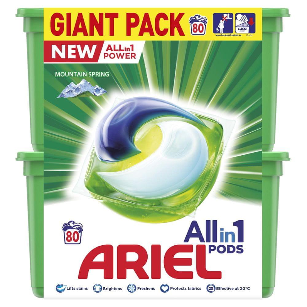 Ariel All-in-1 Mountain Spring Kapsle na praní 80 ks