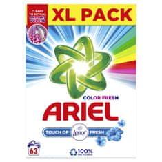 Ariel Color Fresh Prací prášok Touch of Lenor 63 Pracích dávok
