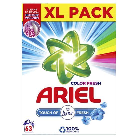 Ariel pralni prašek Color Fresh Touch of Lenor, 63 pranj