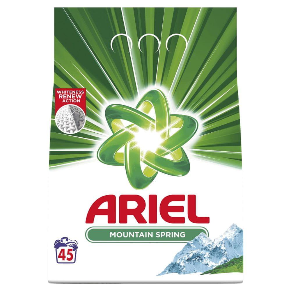 Ariel Prací prášek Mountain Spring 45 Pracích dávek